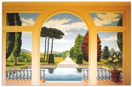 les peintures murales de marc finiels artiste peintre d corateur fresques trompe l 39 oeil. Black Bedroom Furniture Sets. Home Design Ideas